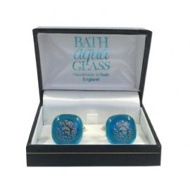 Glass Cufflinks Blue